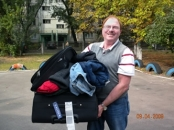 Bringing In A Load Of Clothes For The Children At The Orphanage In Kiev, September, 2009