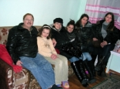 Close-up Of Some Of The Current And Past  Orphans In Kiev.  The Four Girls On The  Right Are From The Previous Reunion  Photo, January, 2009.
