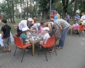 Outdoor Fun Event By The Orphanage For Local Children,  Supported By Struggling Kids, Kiev, Ukraine, June, 2011