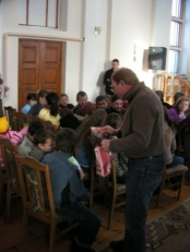 Giving Gifts To Kids In Kazilovka, January, 2009