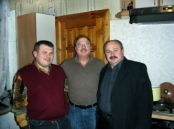 Dr. Stillwagon With Peter, The Mayor Of Kazilovka (Left) And Von,  The Director Of The Hospital And Medical Clinic And Von Is Also A  Local Government Leader, January, 2009.