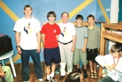 Orphan Boys With Dr. Stillwagon And His Son (Far Left) At An Orphanage In Kiev, June, 2005