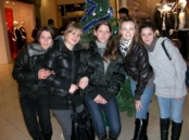 January, 2009. Oxana (Far Right) And Angela (Second From Left) Now 16 And 17 Years Old Having Left The Orphanage After 10 Years To Live With Families And Start College. This Was A Reunion Because All These Girls Lived Together In The Orphanage In Kiev