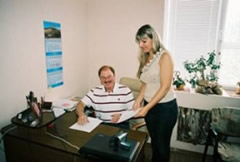 Signing The Documents In Nikolaev, Ukraine to Officially  Form The Women's Center As A Ukrainian Charitable Organization, September, 2007