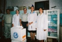 These Are Key Staff Members In The Hospital In<br>Kazilovka.  The Director (Far Left), Head Nurse<br>(Second From Left) And Staff Nurses. With Dr. Stillwagon